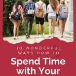 Spend time with your teenager - 5 teenagers walking together
