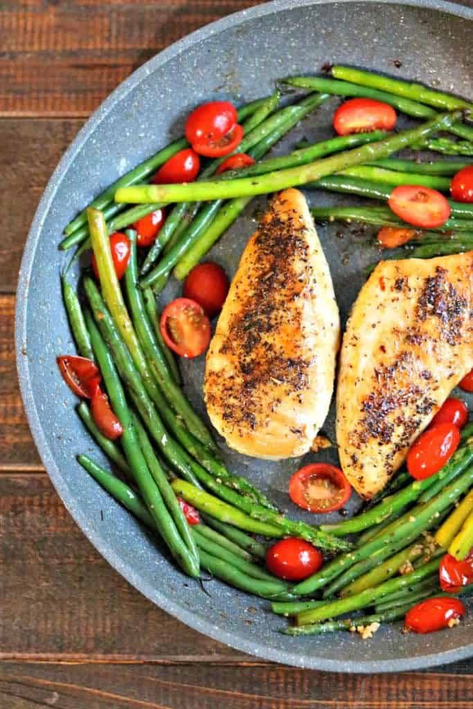 Low-Carb Chicken Provencal Vegetables - Kylee Cooks