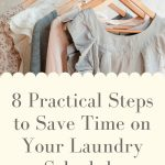 5 clothing hangers with dresses and cardigans hanging on a clothing rack - 8 practical steps to save time on your laundry schedule