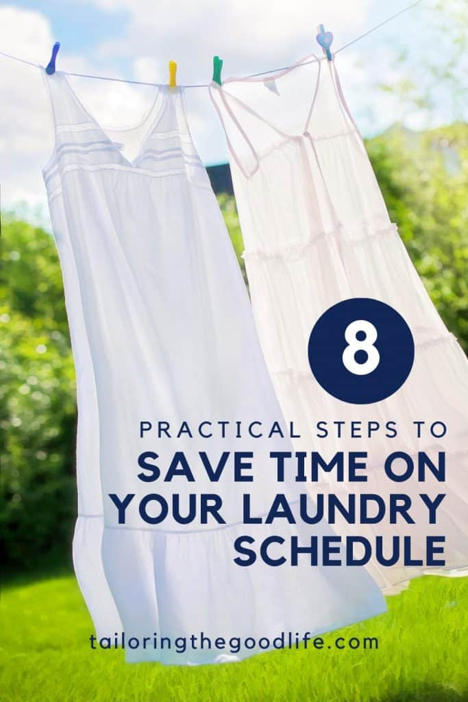 2 summer dresses blowing in the wind to dry - 8 Practical Steps to Save Time on Your Laundry Schedule