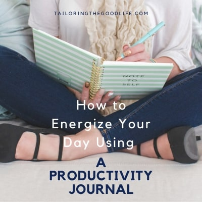 lady sitting on couch writing in a productivity journal - Tailoring the Good Life