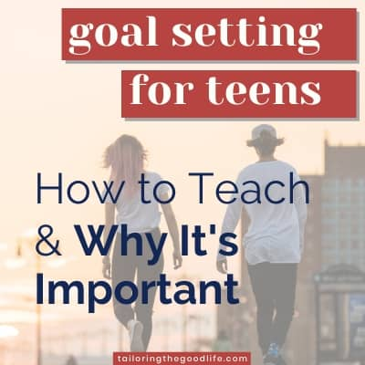 Goal Setting for Teens - 2 teenagers on the street from the back