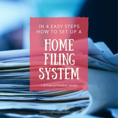 How to set up a home filing system in 4 easy steps