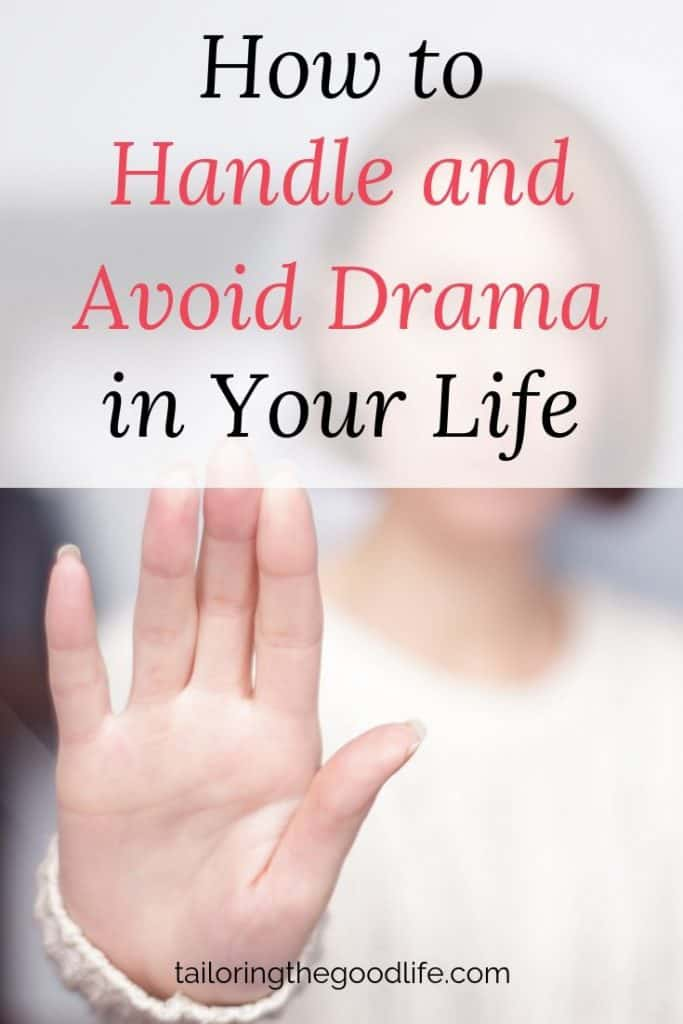Lady with her hand raised as a stop sign - How to Handle and Avoid Drama in Your Life