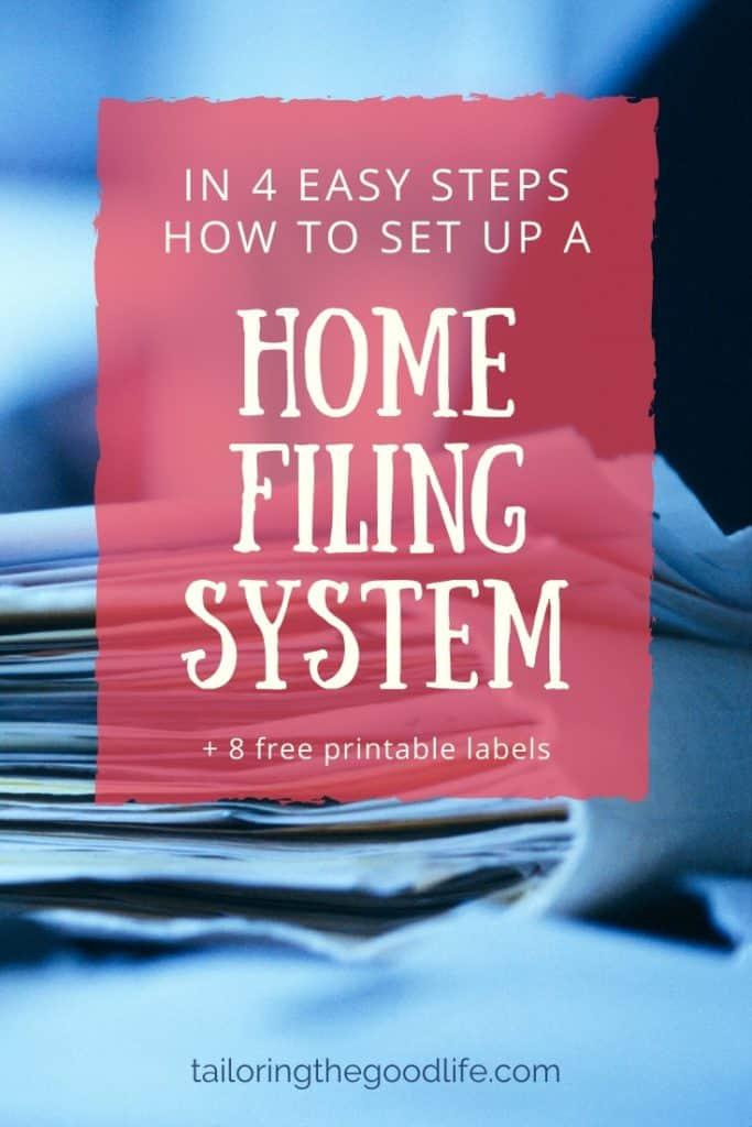 home filing system - big pile with papers